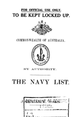 Navy List for January 1943