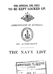 Navy List for January 1944