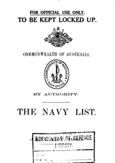 Navy List for January 1945