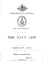 Navy List for January 1946