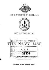 Navy List for January 1948
