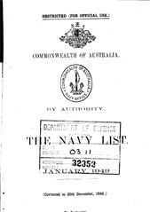 Navy List for January 1949