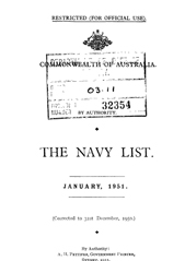 Navy List for January 1951