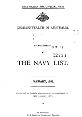 Navy List for January 1955