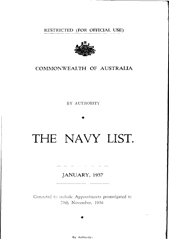 Navy List for January 1957