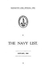 Navy List for January 1960