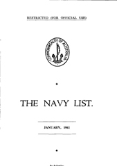 Navy List for January 1961