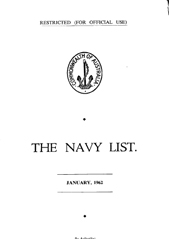 Navy List for January 1962