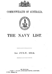 Navy List for July 1914