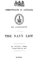 Navy List for July 1915