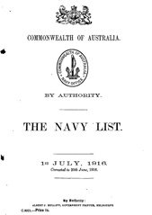 Navy List for July 1916
