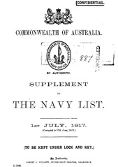 Navy List Supplement for July 1917