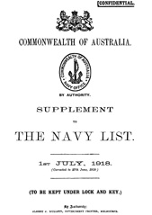 Navy List Supplement for July 1918