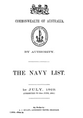 Navy List for July 1919