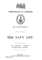Navy List for July 1920