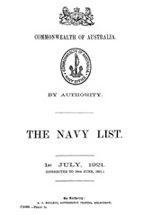 Navy List for July 1921