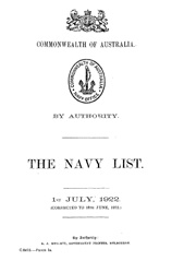 Navy List for July 1922