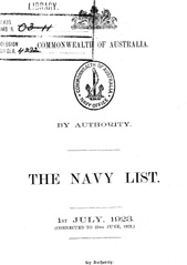 Navy List for July 1923