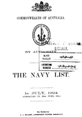 Navy List for July 1924