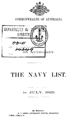 Navy List for July 1925