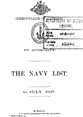 Navy List for July 1927