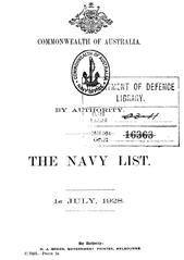 Navy List for July 1928