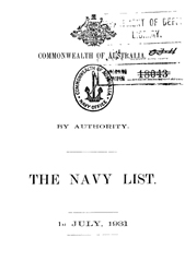 Navy List for July 1931