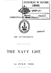 Navy List for July 1933