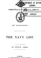Navy List for July 1934