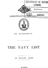 Navy List for July 1935