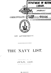 Navy List for July 1937