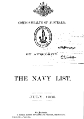 Navy List for July 1939