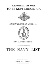 Navy List for July 1940