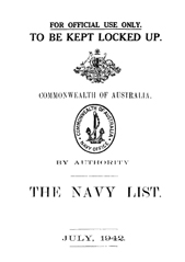 Navy List for July 1942