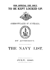 Navy List for July 1943