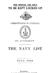 Navy List for July 1944