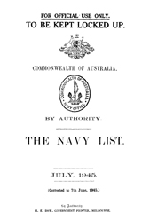Navy List for July 1945