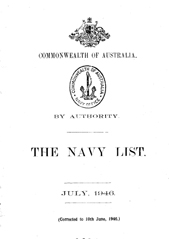 Navy List for July 1946