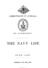 Navy List for July 1947