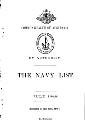 Navy List for July 1948