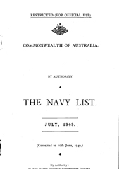 Navy List for July 1949