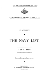 Navy List for July 1950