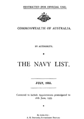 Navy List for July 1955