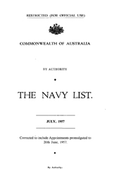 Navy List for July 1957