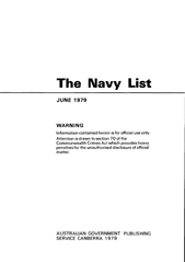 Navy List for June 1979