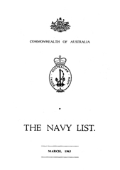 Navy List for March 1963