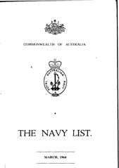 Navy List for March 1964