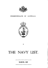 Navy List for March 1965