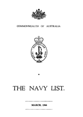 Navy List for March 1966