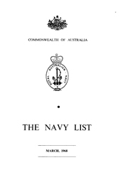 Navy List for March 1968